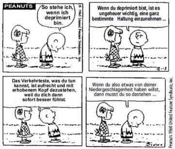 Äußere und innere Haltung - Charlie Brown