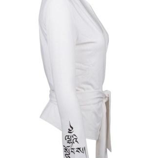Yoga Shirt_Cristina_White_Divine Power_Side