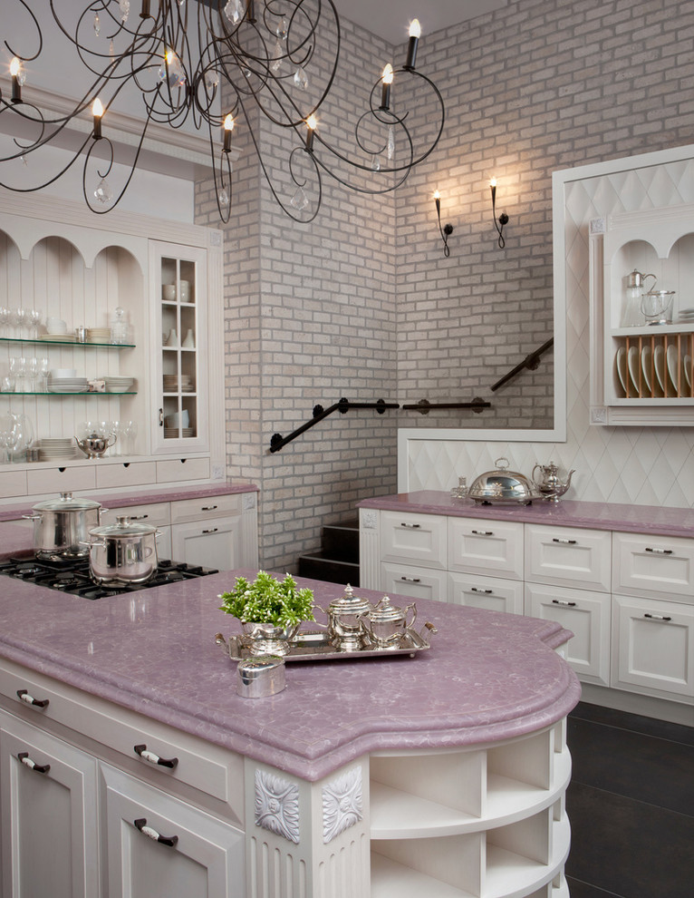 fa569__pink-kitchen-marble-countertops-brick-wall-better ... on Traditional Kitchen Wall Decor  id=20005