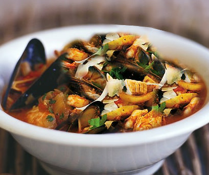 Pesci: La zuppa di pesce è una specialità genovese tra le più raffinate