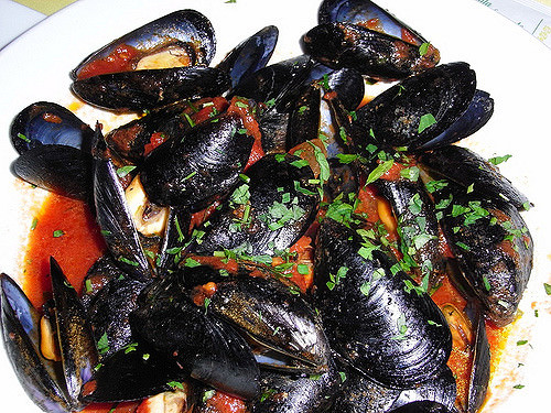 La zuppa di cozze che a Genova sarebbero i muscoli