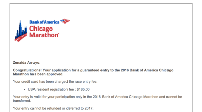 Chicago Marathon Entry 2016