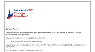 Chicago Marathon Entry 2016
