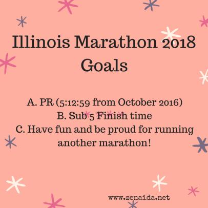 Illinois Marathon 2018 Goals