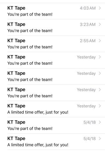 KT Tape Emails