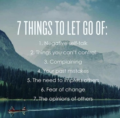 7 things to let go of