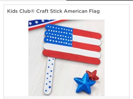 American Flag with Sticks-1