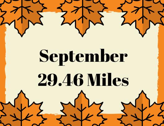 September 2019 Mileage