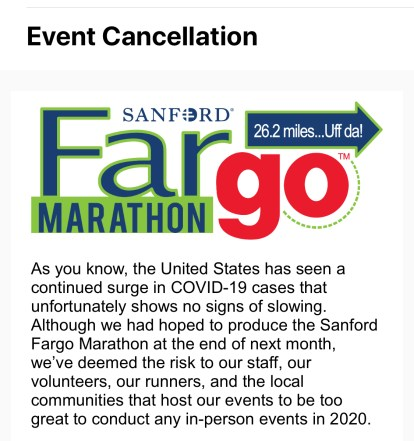 Fargo Marathon cancellation-1