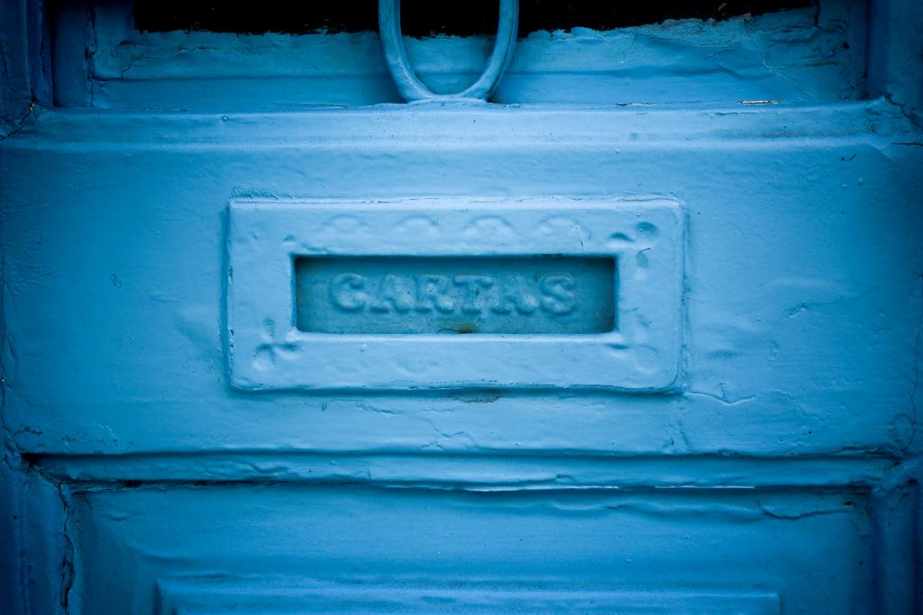 postilaatikko, turkoosi väri