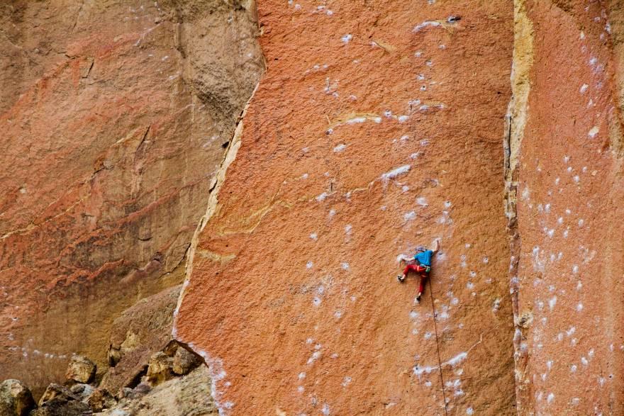 Smith Rock chalk crag etiquette