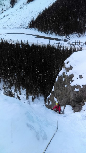 Snivelling Gully Veronica following Pitch 1