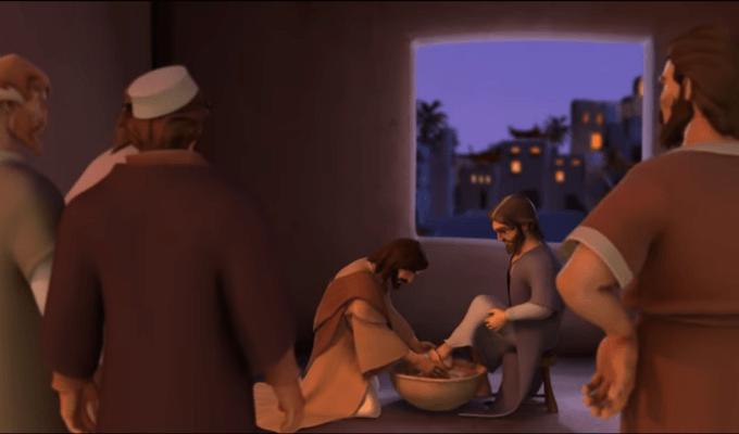 Crtići s tematikom Velikog tjedna - Pasija za malene; pranje nogu