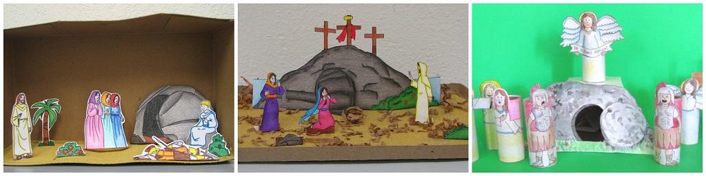 uskršnje dekoracije, scena groba
