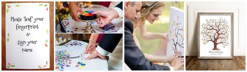 vjenčanje, otisci prstiju
