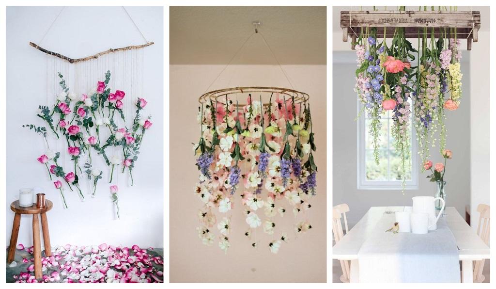 viseće cvijeće, luster