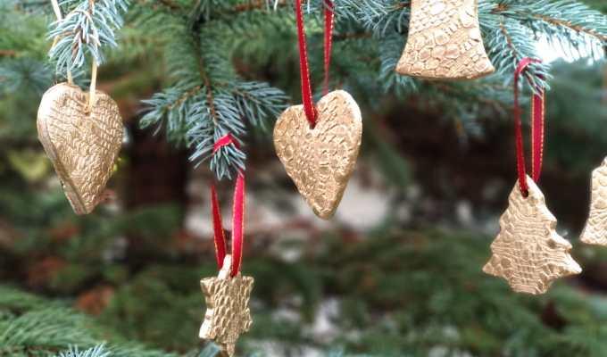 božićni ukrasi od glinamola