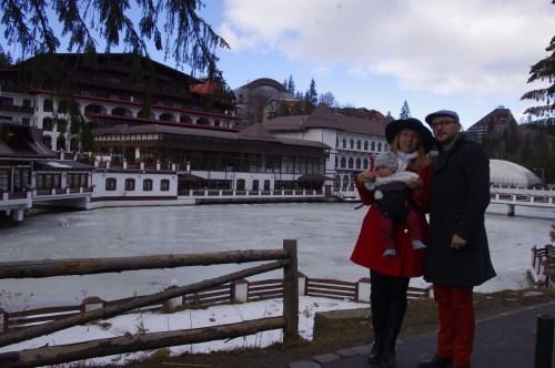 Poiana Brasov frozen lake