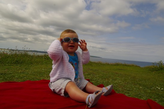 Godrevy Cornwall with baby