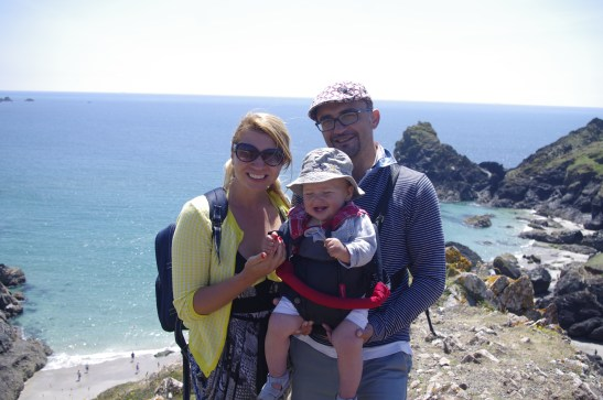 Kynance cove with baby