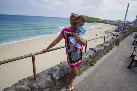 St Ives with baby - Porthmeor beach