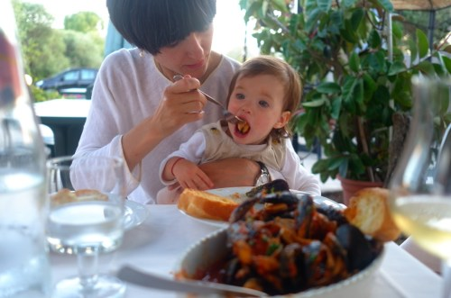 A week in Sardinia with toddler - lunch