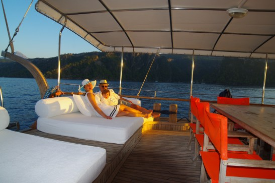 Chilling out on the sunset cruise