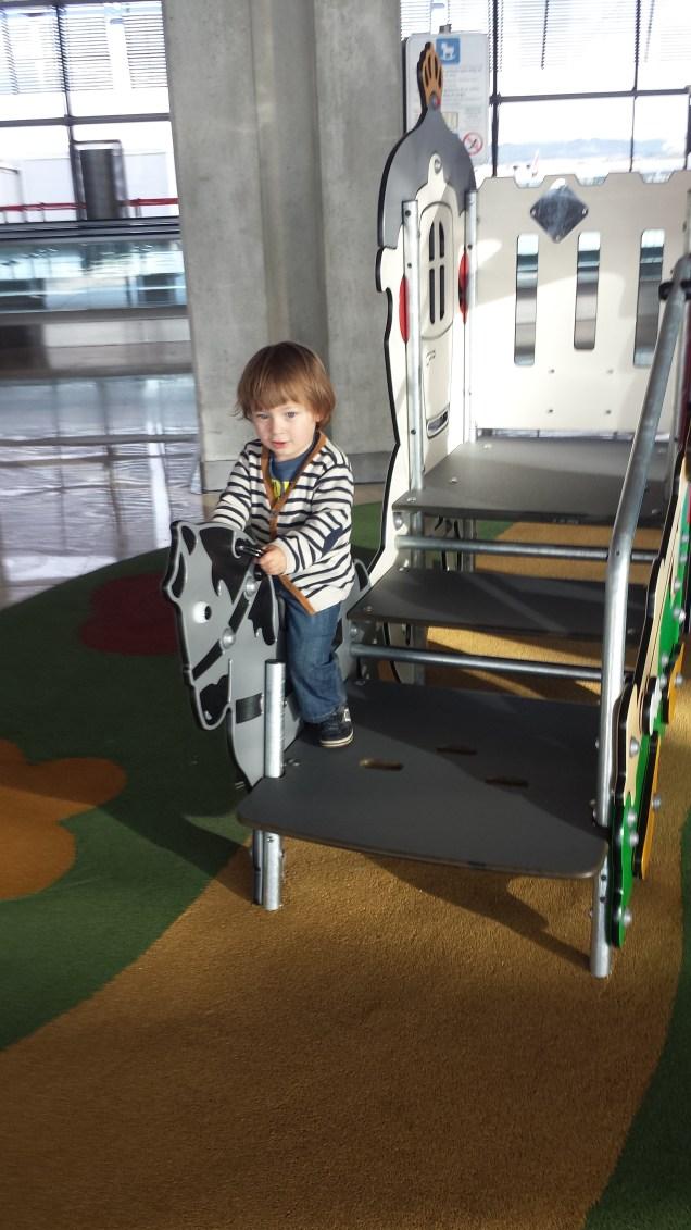 Madrid airport playground