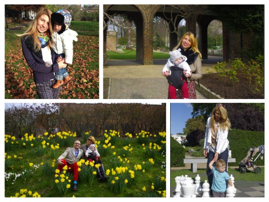 Holland park London with toddler