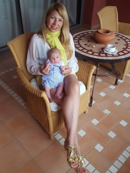 Ritz Abama Tenerife with baby
