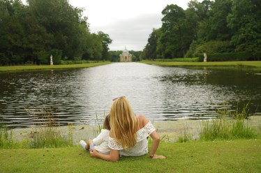 Wrest Park with kids: the lake