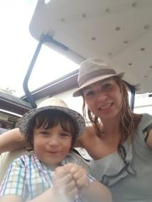 Kids fun with the golf cart