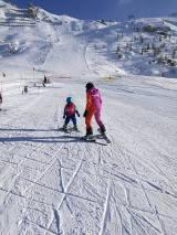Tignes with kids: 3 years old skiing - Espritski holidays