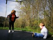 Cornwall with kids: Kilminorth Cotages trampoline