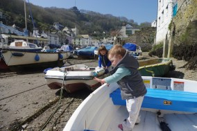 Polperro with kids