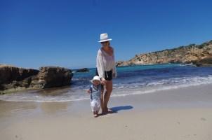 Family guide to Ibiza: Calla Tarida with baby