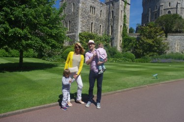 Windsor Castle with kids