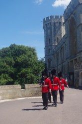 Windsor Castle with the kids: changing guards