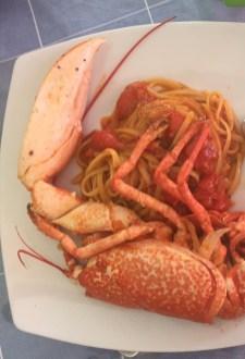 Indulge the local cuisine : lobster spaghetti