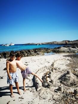 Binibeca Beach with kids