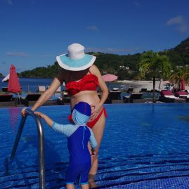 Swim with Wild dolphins. Babymoon with toddler in the Grenadines