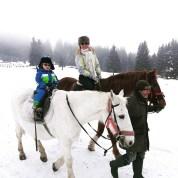 Winter fun with kids - horseriding Romania