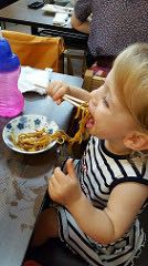 Lunch in Japan with toddler: noodles
