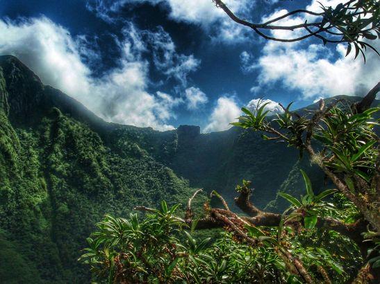 Nevis extinct volcano