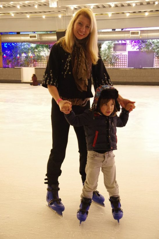 little kids ice skating