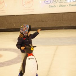 little kids ice skating