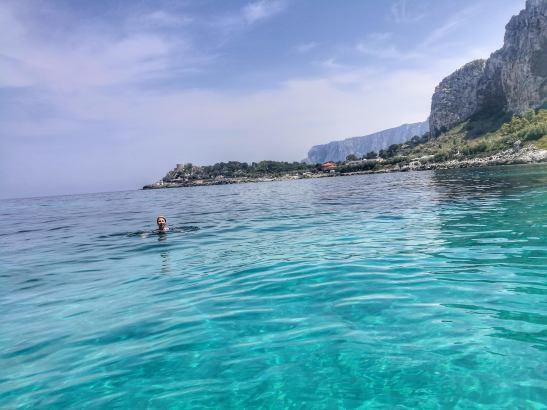 Sailing Palermo coast - natural reserve Capo di Gallo