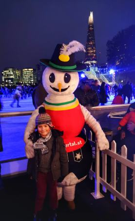 Tower of London ice rink with kids 2019