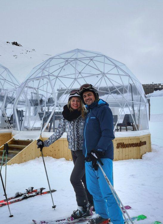 Skiing Courchevel and Meribel