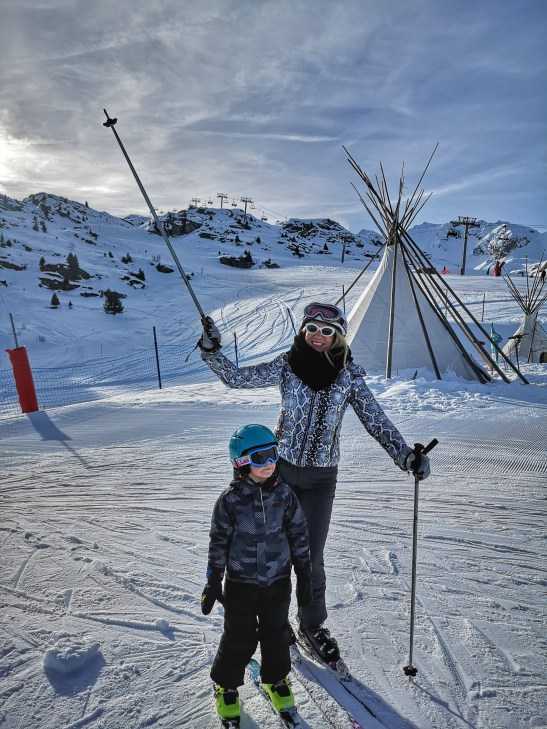 Family skiing Courchevel and Meribel